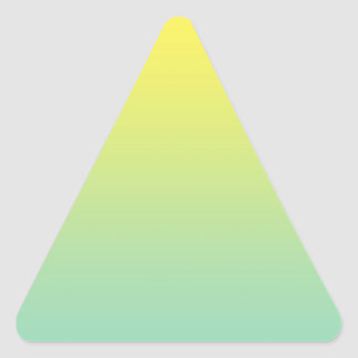 Green & Yellow Ombre Triangle Sticker