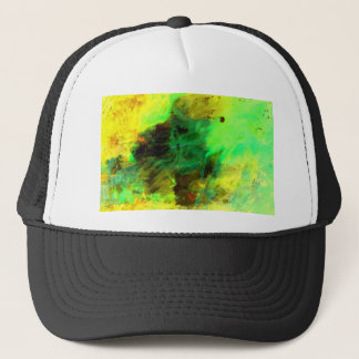 Green Yellow Original Abstract Trucker Hat