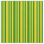 [ Thumbnail: Green & Yellow Pattern Fabric ]