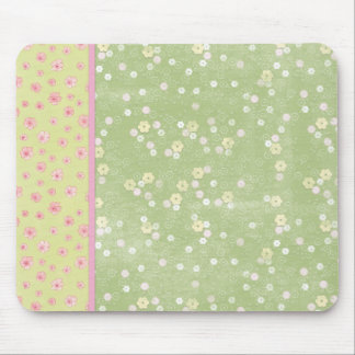 Green Yellow Pink Roses  Mousepad Mouse Pad