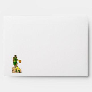 Green Yellow Player Dribbling Envelope