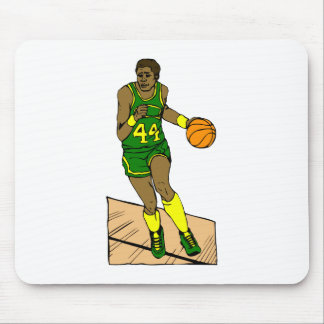 Green Yellow Player Dribbling Mouse Pad