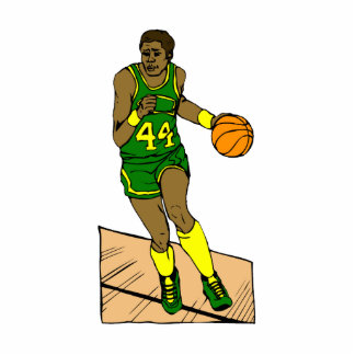 Green Yellow Player Dribbling Photo Sculptures