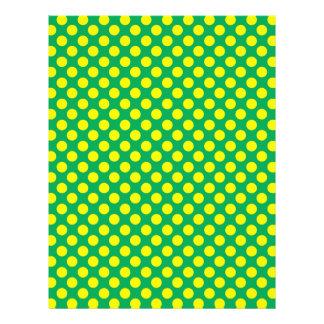 "Green yellow polka dots 8.5"" x 11"" flyer"