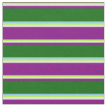 [ Thumbnail: Green, Yellow, Purple, Dark Green & Light Sky Blue Fabric ]