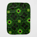 green yellow random pattern burp cloths