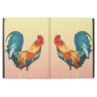 Green Yellow Red Rooster Bird Animal iPad Pro Case