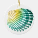 Green & Yellow Seashells Christmas Tree Ornament