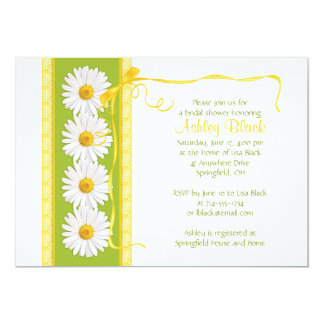 Green Yellow Shasta Daisy Bridal Shower Invitation