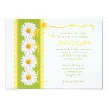 Green Yellow Shasta Daisy Communion Invitation