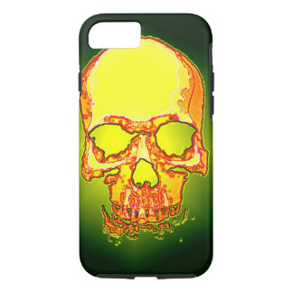Green Yellow Skull Heavy Metal Fantasy Art iPhone 7 Case