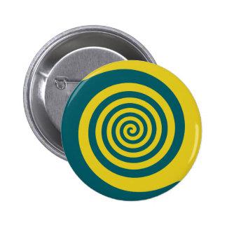 Green yellow spiral pinback buttons