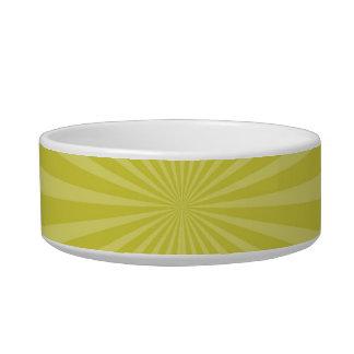 Green Yellow Sunburst Sun Rays Striped Pattern Bowl