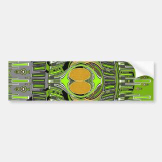 Green yellow superfly design car bumper sticker
