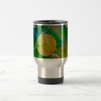 green yellow tree pyramid spacepainting mug
