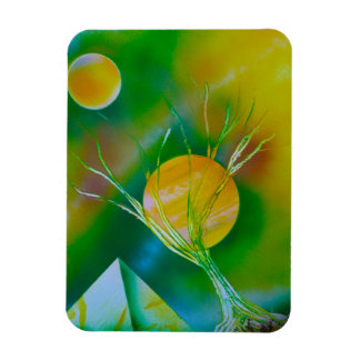 green yellow tree pyramid spacepainting flexible magnets