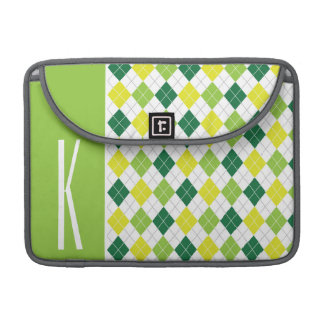Green, Yellow, & White Argyle MacBook Pro Sleeves
