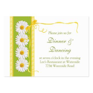 Green Yellow White Daisy Wedding Reception Card