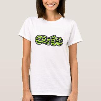 Green-Yellow Zebra Stripes Animal Print T-Shirt
