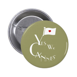 Green Yes We Cannes Pin
