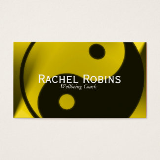 Green yin yang health and wellbeing business card