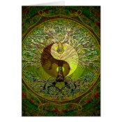 Green Yin Yang Mandala with Tree of Life Card (<em>$3.15</em>)