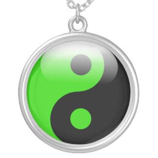 Green Yin Yang necklace