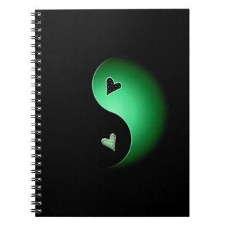 green yin yang notebook