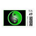 Green Yin & Yang Stamps