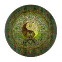 Green Yin Yang with Tree of Life Cutting Board (<em>$42.20</em>)