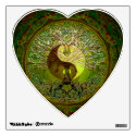 Green Yin Yang with Tree of Life Wall Decal (<em>$15.80</em>)