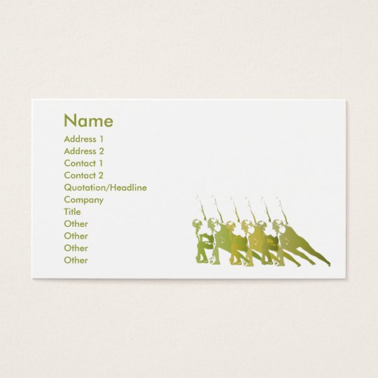 Green Yoga - Business Business Card