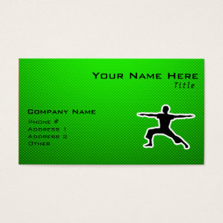 Green Yoga Business Card