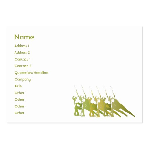 Green Yoga - Chubby Business Card Template