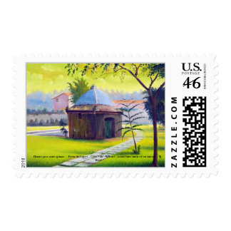 GREEN YOU WANT GREEN -   LEOMARIANO artist ... Postage Stamp