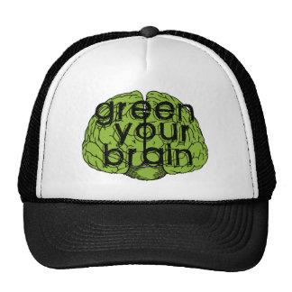 Green your brain gorras de camionero