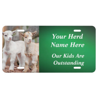GREEN YOUR GOAT PHOTO and HERD NAME License Plate