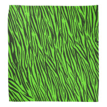 Green Zebra Animal Print Bandana