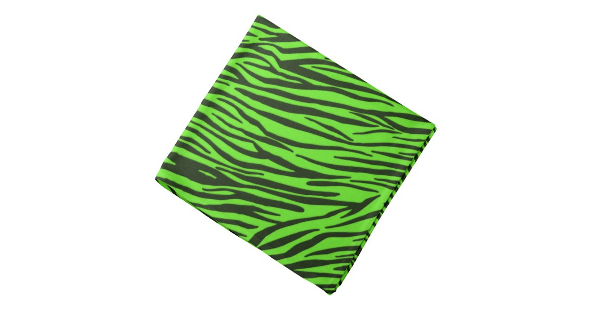 green zebra animal print bandana zazzle. Black Bedroom Furniture Sets. Home Design Ideas
