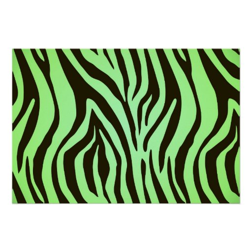 green zebra animal print pattern zazzle. Black Bedroom Furniture Sets. Home Design Ideas