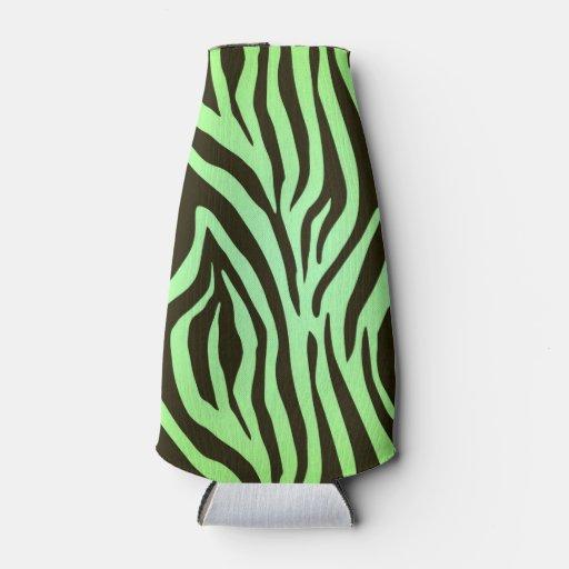 Green Zebra Print Green zebra animal pri...