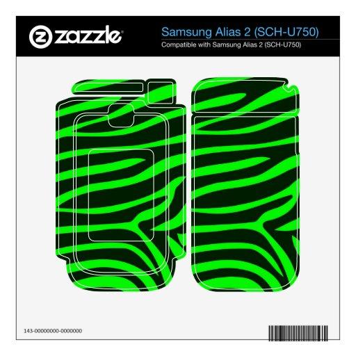 Green Zebra Pattern Samsung Alias 2 Skins