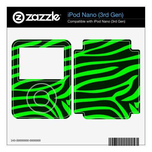 Green Zebra Pattern Skin For The iPod Nano