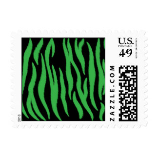 Green Zebra Postage Stamps