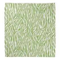 Green Zebra Print Bandana