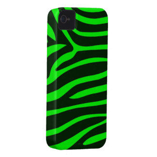 Green Zebra Print BlackBerry Bold Case