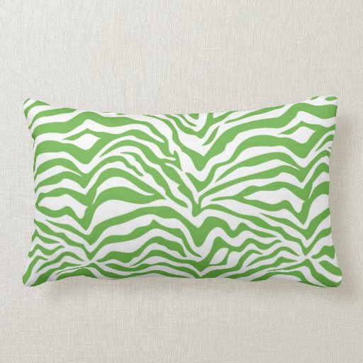 green zebra print throw pillow zazzle. Black Bedroom Furniture Sets. Home Design Ideas