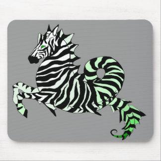 Green Zebra Sea Horse Mousepad