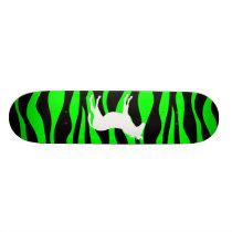 Green Zebra Skateboard