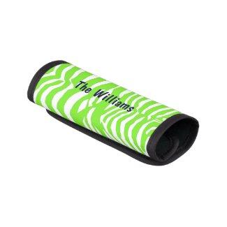Green Zebra Stripe Suitcase Handle Cover